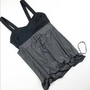 Lululemon Back On Track Tank Black and Grey - 8